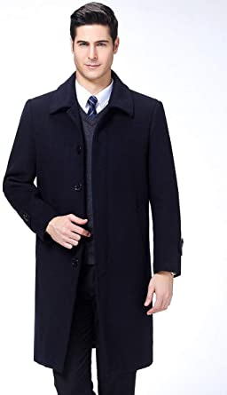 Homme Européen Français Mode Manteaux D'hiver En Laine À