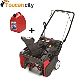 Yard Machines 21 in. 179 cc Single-Stage Electric Start Gas Snow Blower 31AS2S1E700 and Toucan City Gas Can