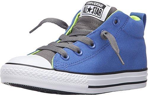 Converse Kid's Chuck Taylor All Star Street Mid Hi Fashion Sneaker Shoe, Oxygen Blue/Volt/White, 6