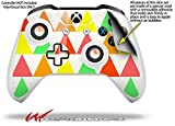 Triangles Citrus - Decal Style Skin fits Microsoft XBOX One S and One X Wireless Controller