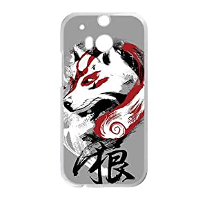 Red White Wolf White HTC M8 case