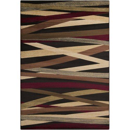 "Ebern Designs Douglasland Charcoal Area Rug Rectangle 4' x 5'5"""