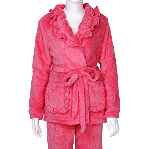 pijamas otoño/invierno/De la señora manga larga volante servicio a domicilio/Pijamas calientes/Pijamas/ yukata B