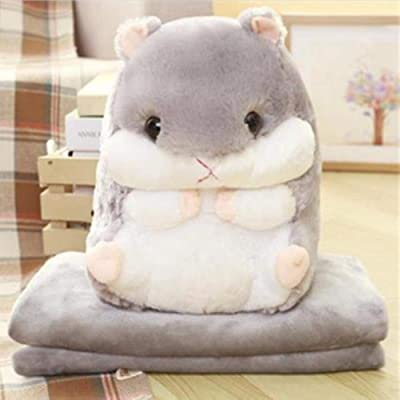 Rain city Hamster Hand Warm Plush Toy Doll Safe Smooth Pp Stuffed Cotton Suitable for Women or Children As a Gift: Home & Kitchen
