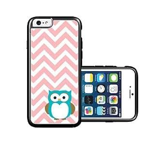 RCGrafix Brand Owl Coral Chevron iPhone 6 Case - Fits NEW Apple iPhone 6