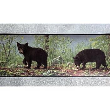 York Wallcoverings Lake Forest Lodge Wl5627b Black Bear