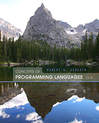 Concepts of Programming Languages (11th Edition) by Pearson