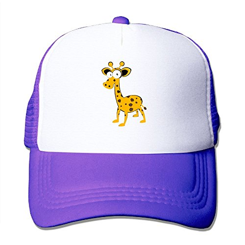 Hizhogqul Cute Deer Trucker Hat Unisex Adult Baseball Mesh Cap Purple ()