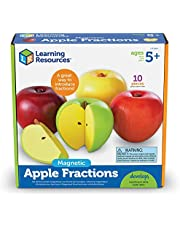 Learning Resources LER0904 Magnetic Apple Fractions 10.5 x 10.4 x 3.2 inches
