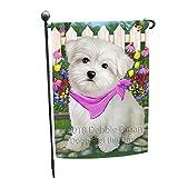 Cheap Doggie of the Day Spring Floral Maltese Dog Garden Flag GFLG49741
