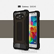 Cocomii Commando Armor Galaxy Grand Prime Case NEW [Heavy Duty] Premium Tactical Grip Dustproof Shockproof Hard Bumper Shell [Military Defender] Full Body Dual Layer Rugged Cover for Samsung Galaxy Grand Prime (C.Black)