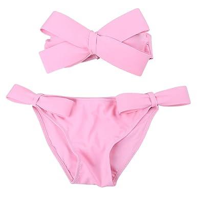 MIOIM Traje de Baño de Corbata de Moño para Mujer Juvenil Bikini ...
