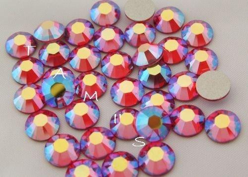 34ss Crystal (Light Siam AB HOTFIX Flatback SWAROVSKI Crystal Rhinestones 34ss)