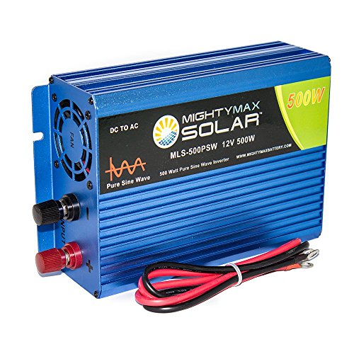 Mighty Max Battery 12V 500 watt pure sine wave inverter for solar application brand product by Mighty Max Battery