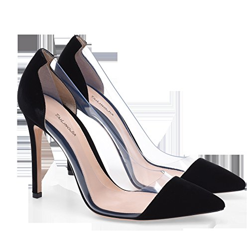 B Womens Sandals Party for Career Spring amp; Pointed Heel Heels Office Toe PVC Ladies Dress Summer Stilettos Fr0qFaxw