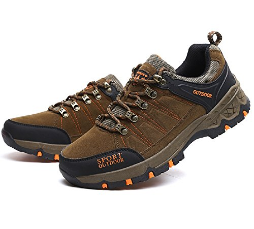 HangFan Mens-Women Climbing Breathable Walking Shoes Athletic Shoes Sport Outdoor Sneakers Brown bhhhT294n6