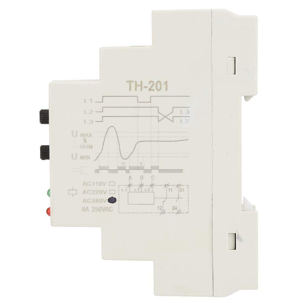 Phase Sequence, 380V TH-201 Power Protection Relay Three Phase Sequence Control Relays Voltage Monitor by Huairdum (Image #6)
