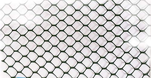 NaiteNet Plastic Poultry (Chicken) Netting Fence -Multipurpose for Garden as Physical Barrier-2ft x 25ft-Rustless,Dark Green