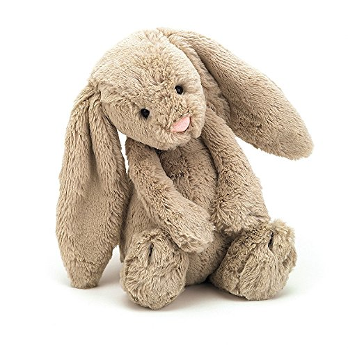 - Jellycat Bashful Beige Bunny Stuffed Animal, Medium, 12 inches