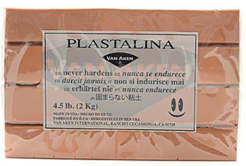 Van Aken Plastalina Modeling Clay (Flesh) - 4 1/2 Lb. Bar 1 pcs SKU# 1839651MA