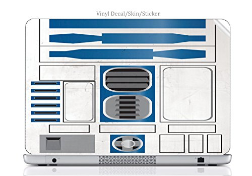Laptop VINYL DECAL Sticker Skin Print Popular Dirty R2D2 fit