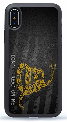 Deal Market LLC - Don't Tread on Me distressed - Hard Rubber Phone case for Apple iPhone X (5.8 inch)- custom Made and shipped from USA