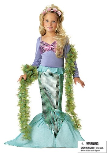 Seaweed Costumes Boa (Little Mermaid Child Costume - Medium)