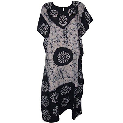 Cotton Batik Caftan Dress - 9