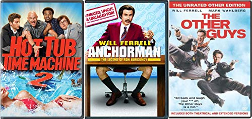 The Will Ferrell Comedy Collection and Hot Tub Time Machine 2 – Anchor Man The Legend of R ...