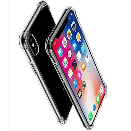 iPhone XS Max(6.5) Case,Cool-satr Crystal Clear Shock Absorption Bumper Soft TPU Rubber Gel Case Compatible with 6.5 Inch iPhone XS Max 2018(Clear)