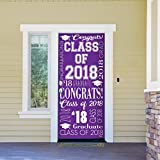 Victory Corps Collage Purple - Outdoor GRADUATION Garage Door Banner Mural Sign Décor 36'' x 80'' One Size Fits All Front Door Car Garage -The Original Holiday Front Door Banner Decor