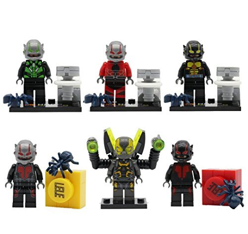 NW® ANT-MAN Minifigures LELE 79057 6pcs/lot Compatible Lego Super Heroes Avengers ANT MAN Building Blocks Bricks Toys Free Marvel Sticker collection from NW Store (Without Original Box)