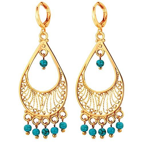 U7 Vintage 18K Gold Plated Earrings (Gold) - 7