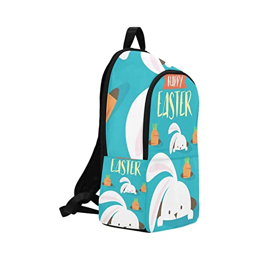 cc12a5c2401e Amazon.com: YKNFIS Easter Bunny Egg Hunt Template Casual Daypack ...