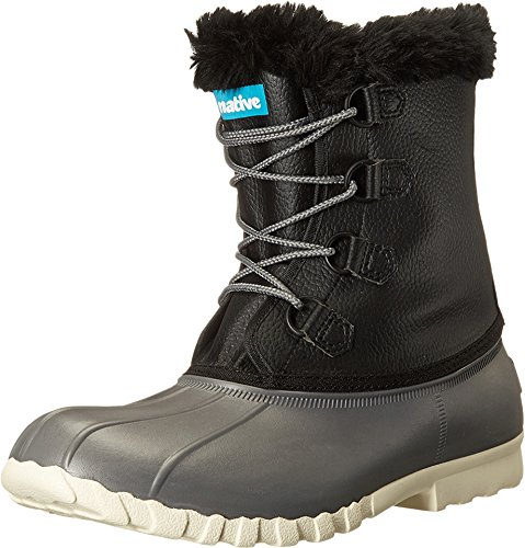 Native Shoes Unisex Jimmy 2.0 Dublin Grey/Jiffy Black/Bone White 5 Women / 3 Men M US (Boots Native Jimmy Shoes)