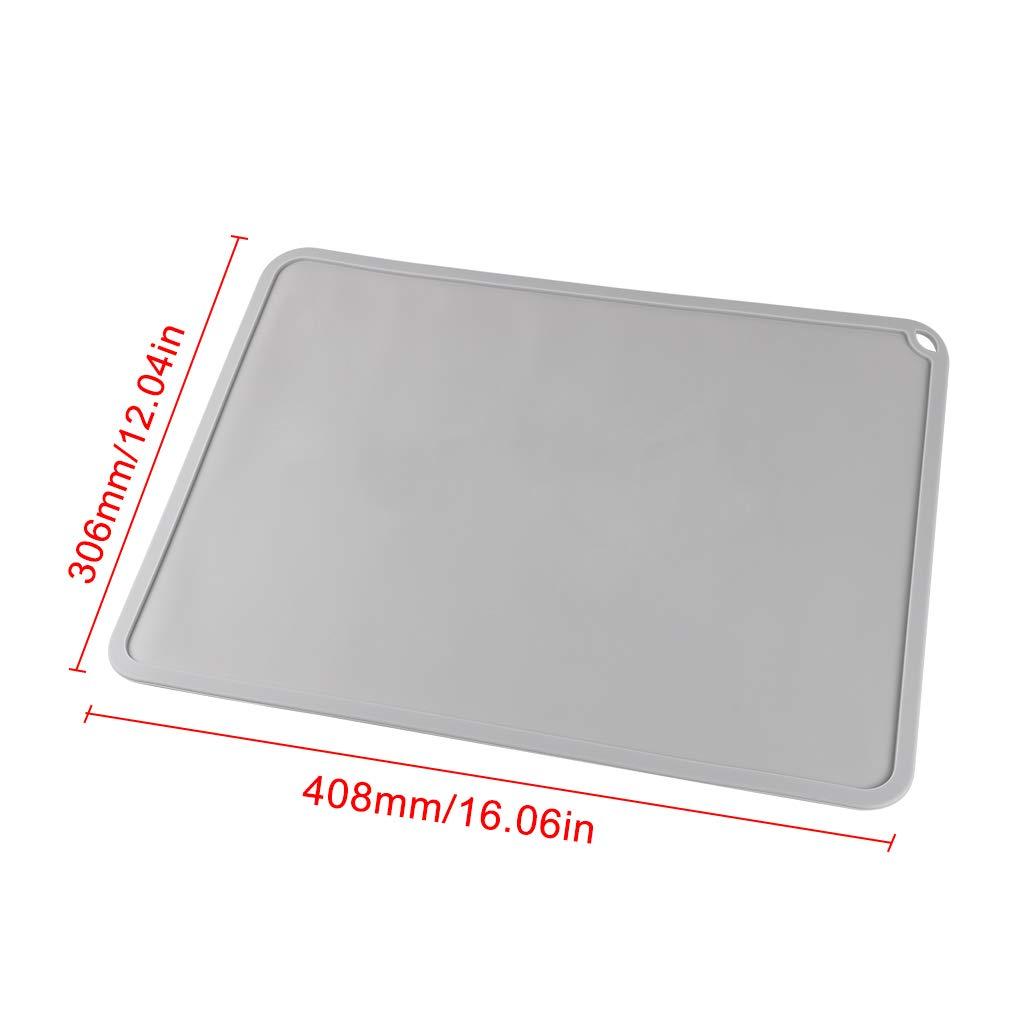 BCZAMD DLP SLA LCD 3D-Drucker Silikon Slap Mat 408x306mm//16,06x12,04in Clean Up oder Resin Transfer zum Schutz der Arbeitsoberflche mit einer Trichterpinzette for den Photon Eleg Mars Wanhao,Blau