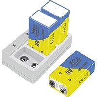 9v batterij oplaadbare lithium-ion capaciteit 800mAh, 3 batterijen met oplader