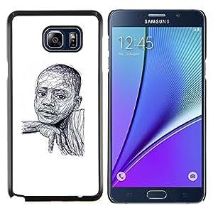 SKCASE Center / Funda Carcasa protectora - Afroamericanos bosquejo blanco - Samsung Galaxy Note 5