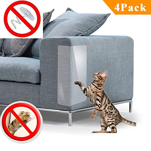 Carpet Cat - PetIsay Plastic Couch Guard from Cat Scratching Protector Clawing Furniture Repellent Table Set Sofa Slipover Pads M