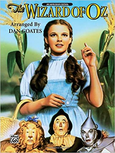 the wizard of oz piano arrangements big note piano