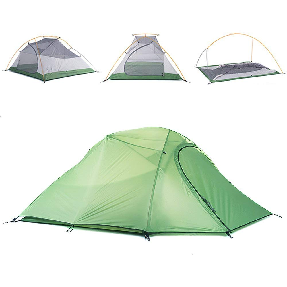 Vinqliq 2, Travel, 3 Person 4 Seasons Lightweight 3 Waterproof Anti-UV Lightweight Windproof Double Layer Backpacking Tent for Camping, Hiking, Travel, Hunting (Green 3 Persons) [並行輸入品] B079WPJQTZ, かんてい局 横浜港南店:48da9e2c --- ijpba.info