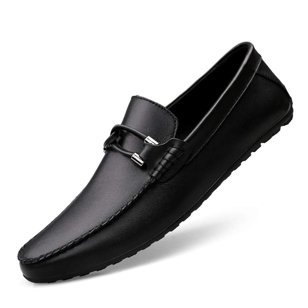 Herren Echtes Leder Slip On Penny Loafers Lässig Leichtgewichtig Leichtgewichtig Leichtgewichtig Atmungsaktiv Geprägte Schuhe Vegan Knot Anti Slip Flache runde,Grille Schuhe (Farbe   Weiß Embossed, Größe   41 EU)  271e0a