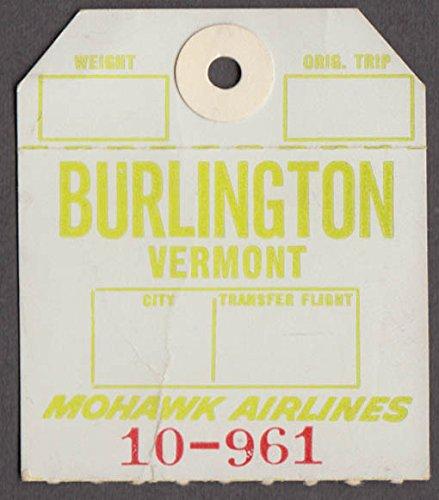 Mohawk Airlines airline baggage check Burlington VT BTV - Mohawk Airlines