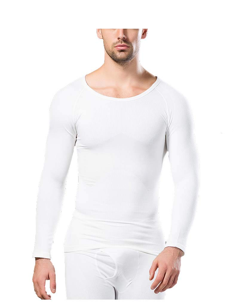 31f51421 Amazon.com : Rosie Men's Thermal Top Base Layer Longt Sleeve Compression  Shirt Comfortable Tight Fit Body Shaper : Sports & Outdoors