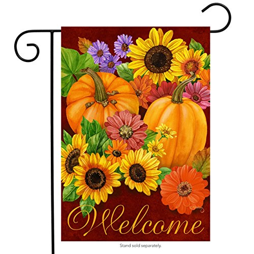 Briarwood Lane Fall Glory Floral Garden Flag Pumpkins Sunflowers Autumn 12.5