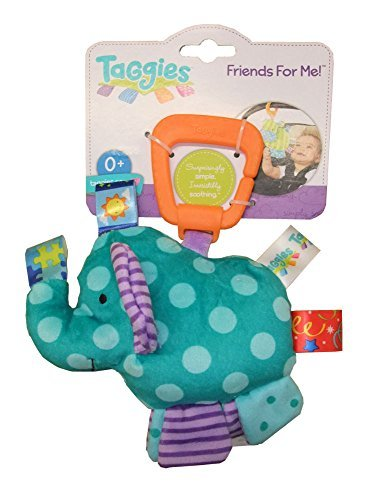 Taggies Friends for Me Elephant Clip-on Stroller Toy