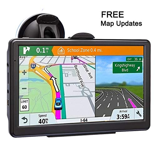 GPS Navigation for Car 7 Inch Car GPS Navigation System 8GB Voice Navigation with Lifetime Map Update Fast Location, Voice Trun-by-Turn Route Guidance, Speed Limit Reminder (The Best Gps System)