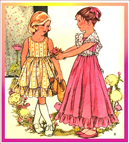 (Simplicity Little Vogue 1676 Girl's Dress and Shawl Vintage Sewing Pattern Check Listings for Size)
