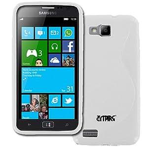 White S Shape Flex Case Cover for Samsung ATIV S SGH-T899 SGH-T899M