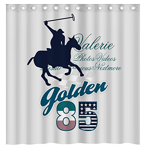 equestrian sports Waterproof Polyester Fabric Bath Shower Curtain?66-Inch by 72-Inch